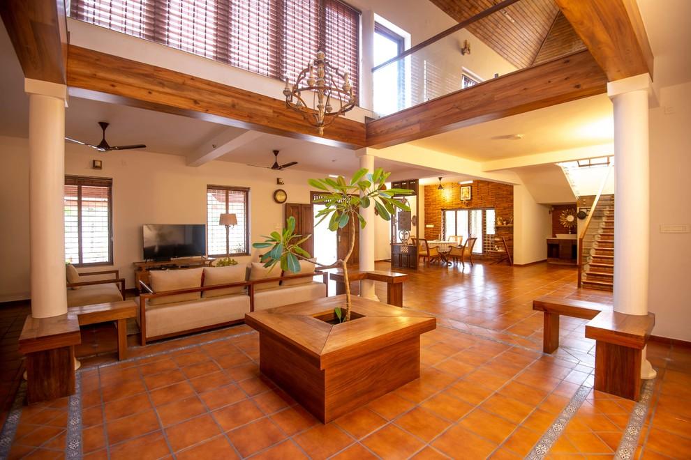 House In Kerala Interiors Ganesh Nair Ei Holdings Photography Vikram Ponappa Eclectic Living Room Other By Vikram Ponappa Architect Photographer