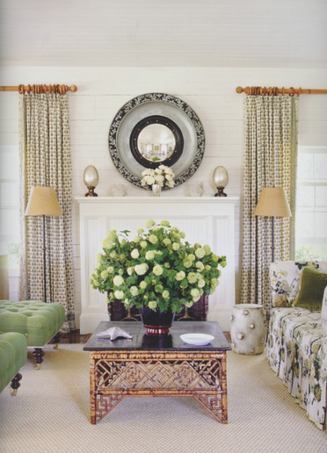 House on Long Island transitional-living-room