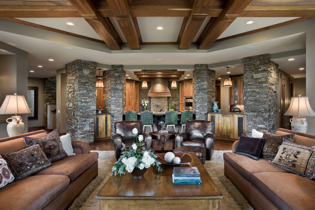 House on the Green rustic-living-room