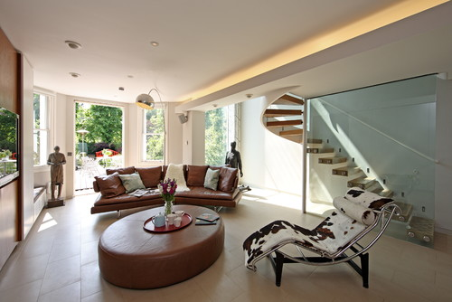 Contemporary Living Room by London Architects & Building Designers sporadicSPACE