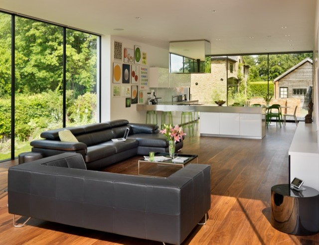 House Remodelling And Extension Guildford Contemporary Living Room London By Gregory
