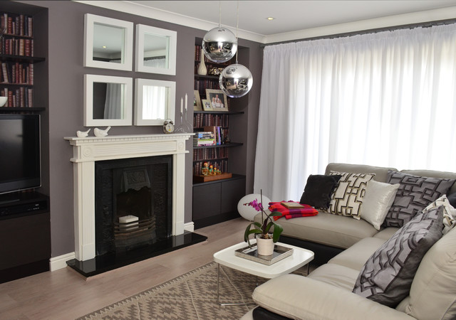 House renovation in Swords contemporary-living-room