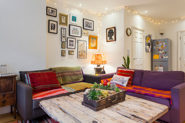 House Share Brixton Eclectic Living Room