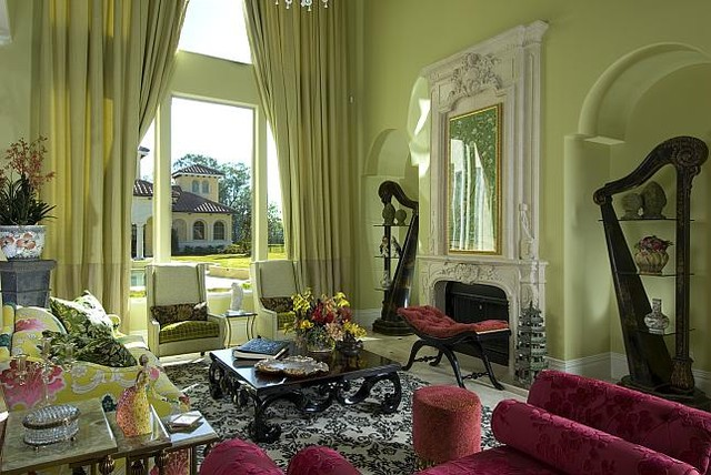 Lviing Room With View Decor