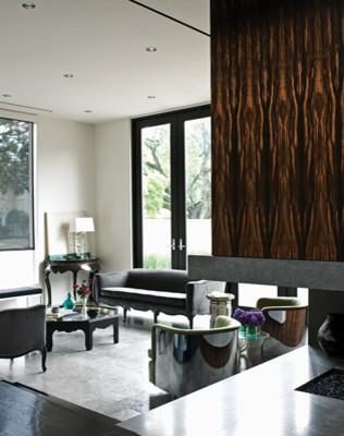 Houston House contemporary-living-room
