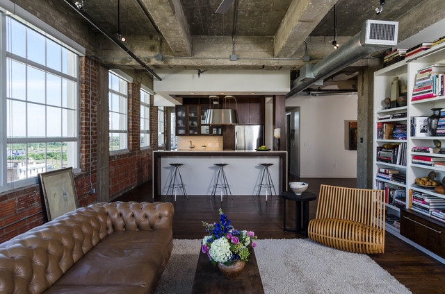 Houston Loft - Industrial - Living Room - houston - by C O N T E N T Architecture