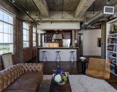 Houston Loft industrial-living-room