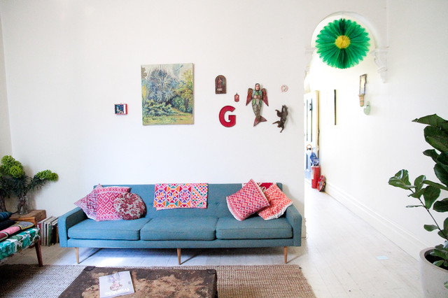 Houzz Melbourne eclectic-living-room