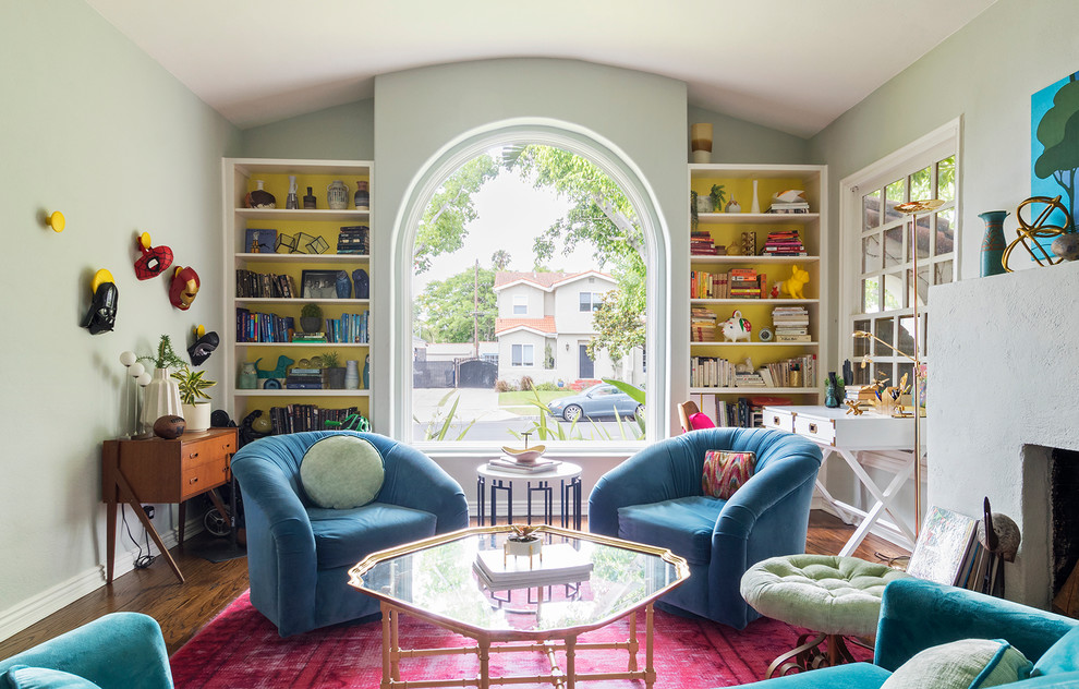 Inspiration for an eclectic living room remodel in Los Angeles