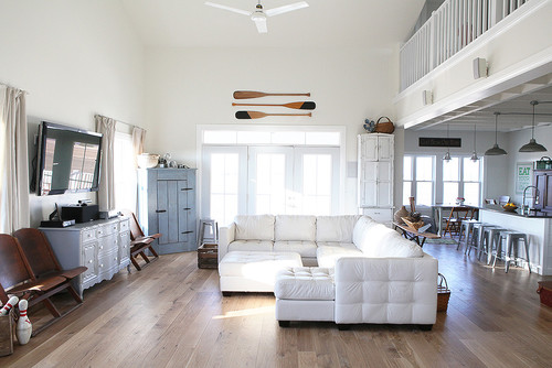 Inspiration industrial farmhouse megan brooke handmade for Industrial farmhouse family room