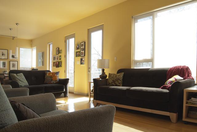 Houzz Tour:  Living Green In Greensburg, Pennsylvania modern-living-room