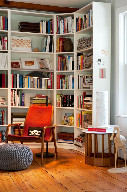 49 school room ideas layers of learning for Modern corner bookshelf