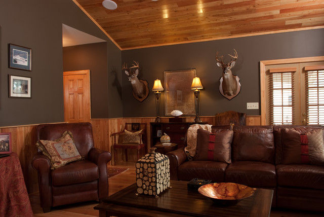 how to design the ultimate man cave - rustic - living room - other