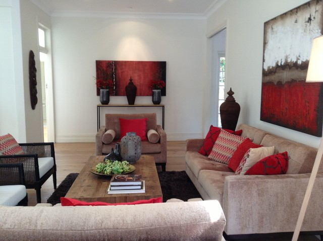 How to stage your home for sale - Transitional - Living Room - sydney - by Anna Cottee Designs