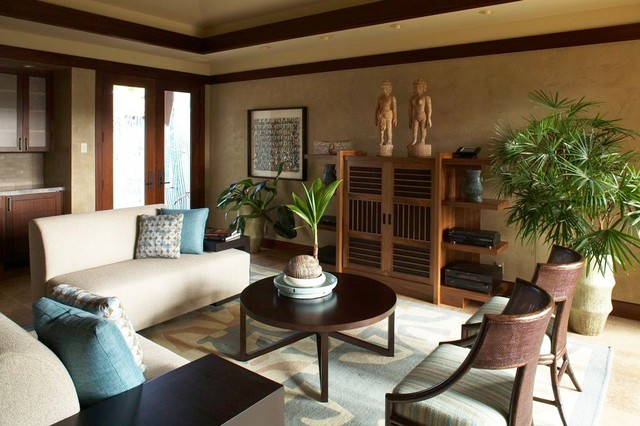 Hualalai Serenity Asian Living Room Hawaii By Willman Interiors Gin
