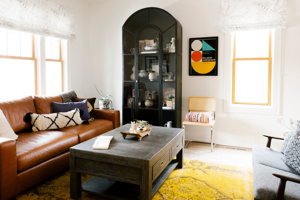 Inspiration for a scandinavian living room remodel in Minneapolis