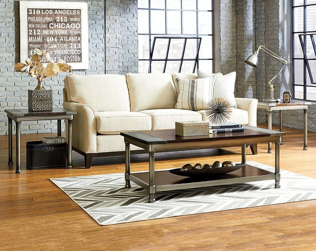 Hudson 3 Piece Table Set Modern Living Room Columbus By American Frei