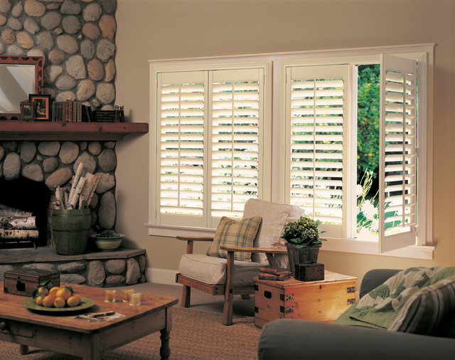 Hunter Douglas Casual Living Window Treatments Rustic Living Room Other