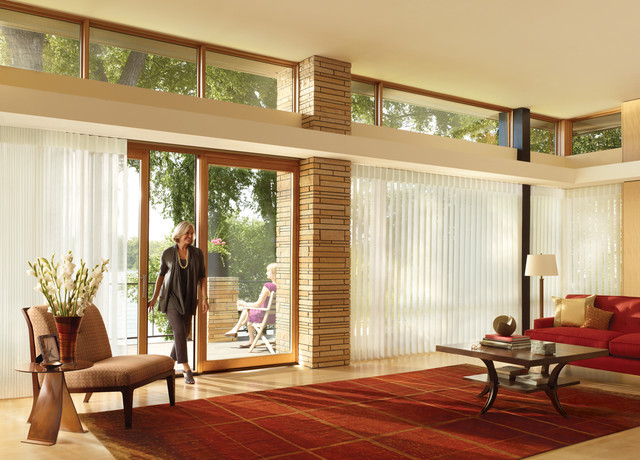 Hunter Douglas Eclectic Window Treatments and Draperies eclectic-living-room