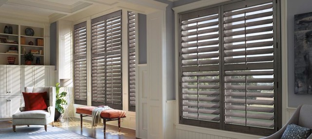 Hunter Douglas Gray Plantation Shutters Modern Living