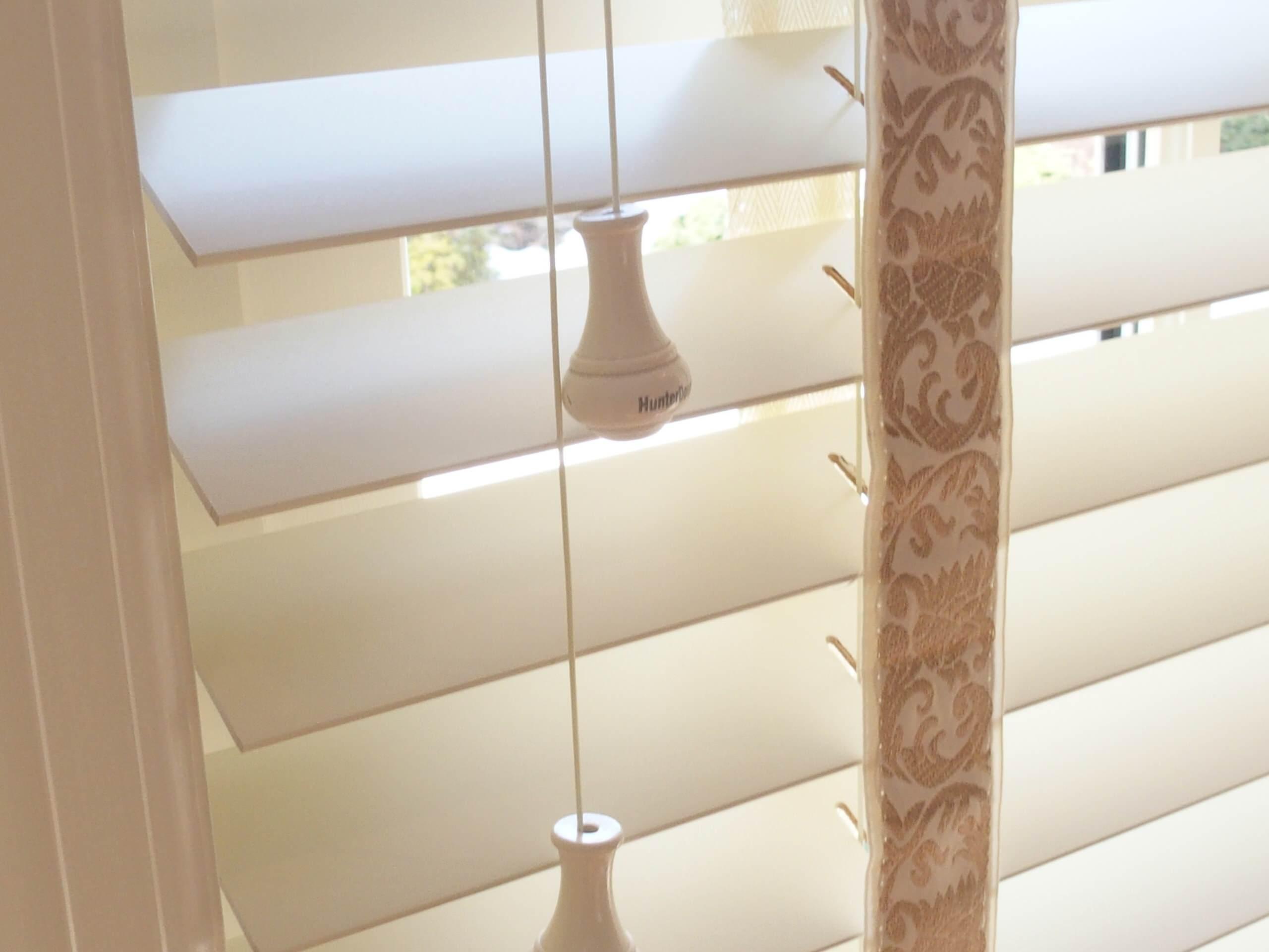 Hunter Douglas Parkland Wood Blinds with Decorative Tapes