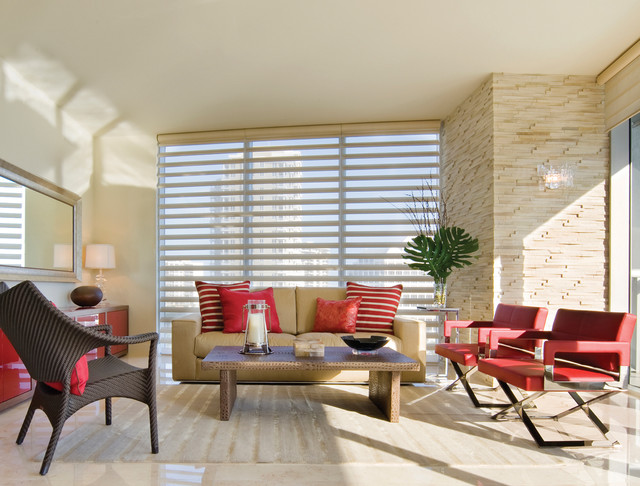 Hunter Douglas Window Coverings living-room