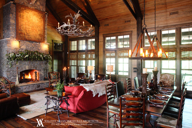 Hunting Lodge - Jackson, AL - Eclectic - Living Room ...