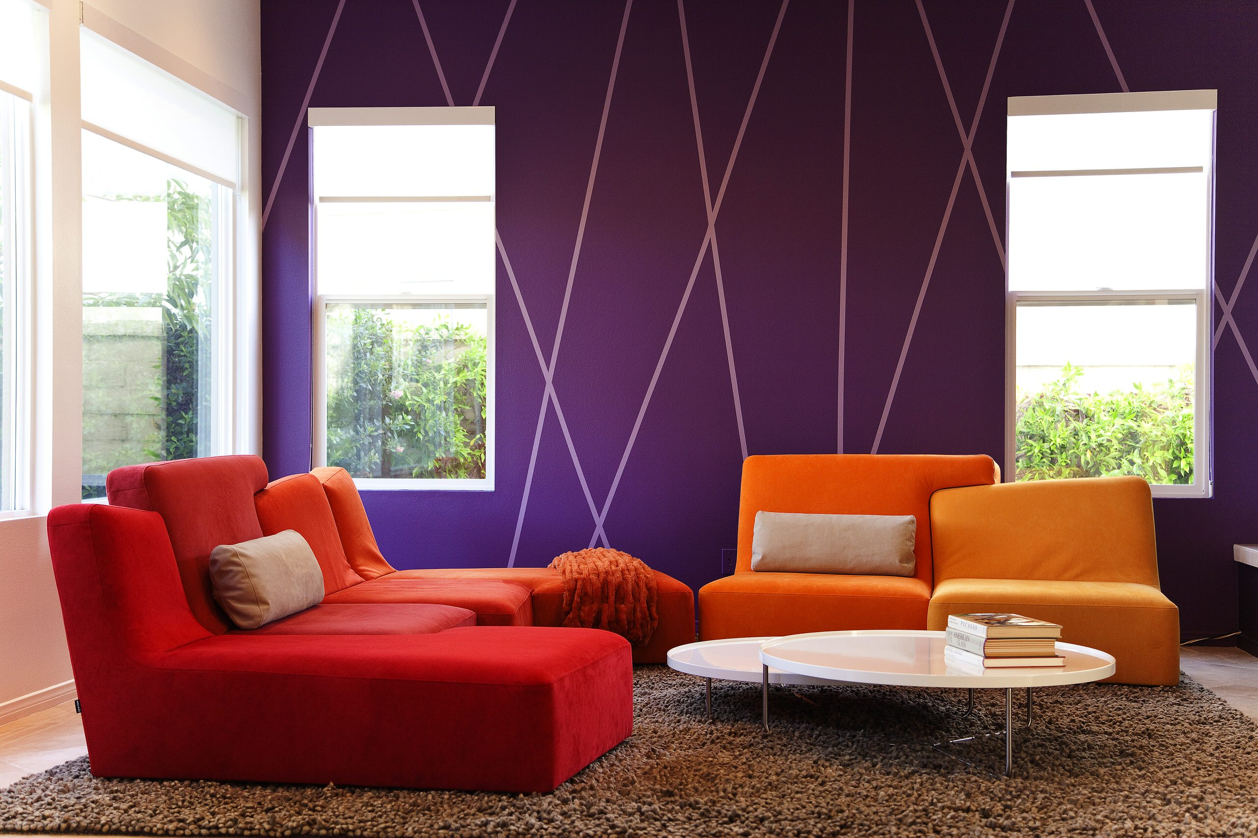 75 Beautiful Purple Living Room Pictures Ideas January 2021 Houzz