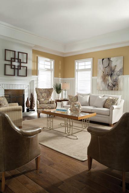 Huntington House contemporary-living-room