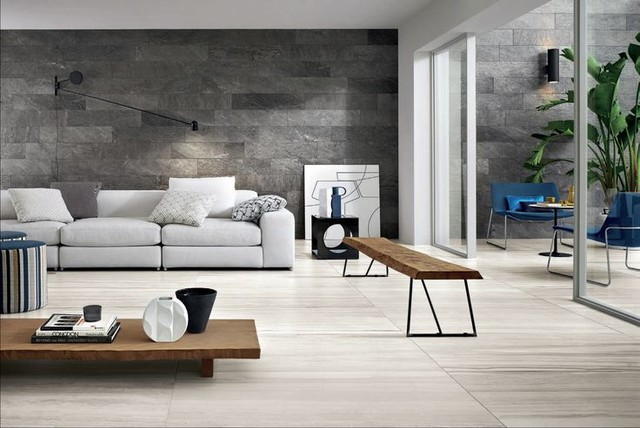 Hws Sand Dunes 18x36 Porcelain Tile Modern Living Room Toronto By Cercan Tile Inc