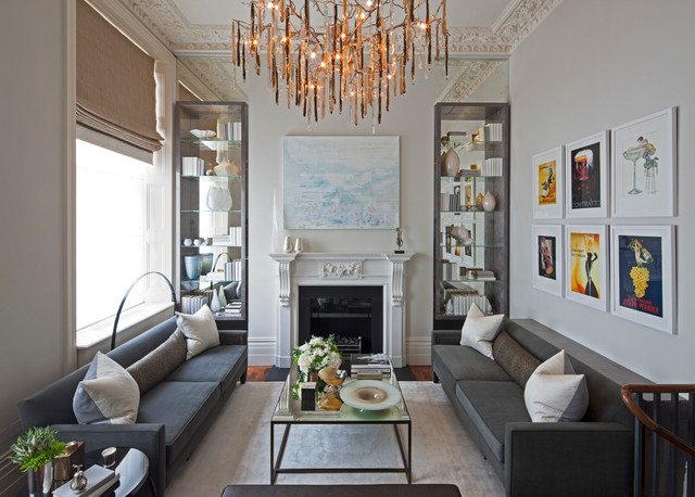Hyde park apartment london contemporary living room for Interior design 02554