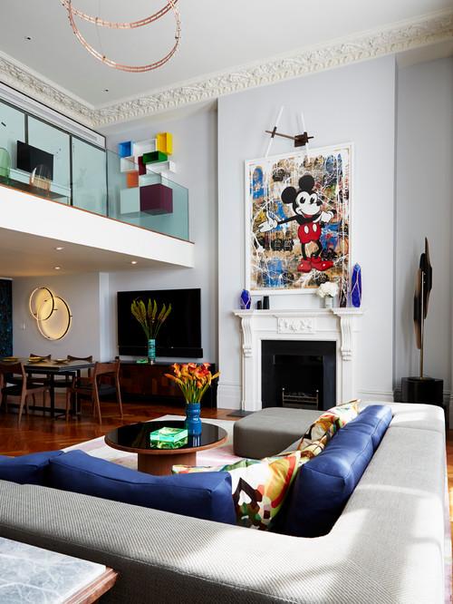 Решение интерьера в архитектуре двухэтажный квартиры