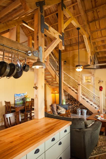 Idaho Barn Home traditional-living-room