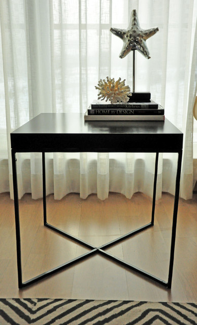 IKEA Lack Side Table Repurposed Hacked Modern Living Room