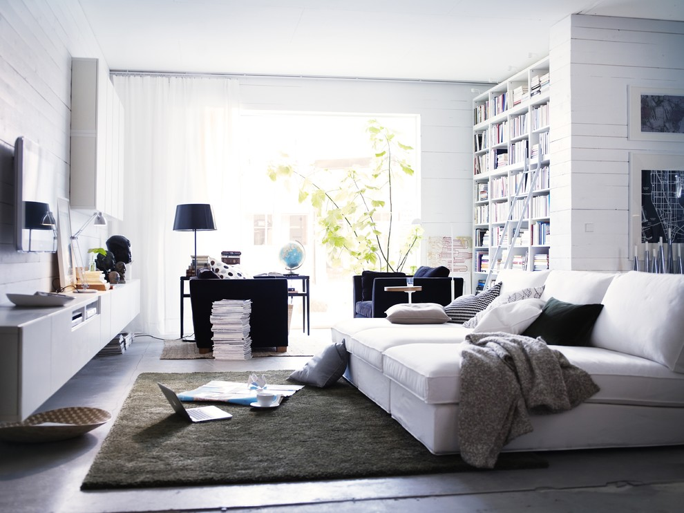 Inspiration for a contemporary living room remodel in Other