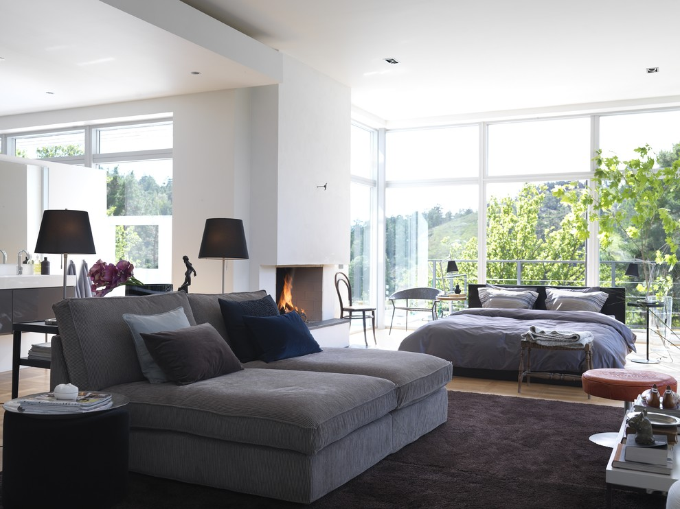 Example of a trendy living room design in Other