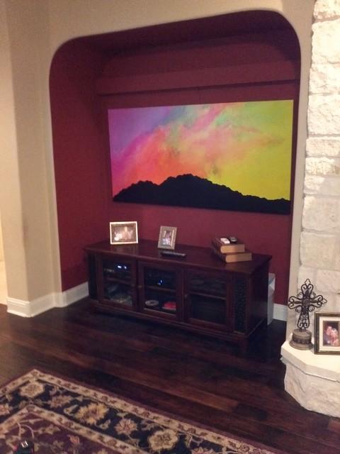 In-situ artwork contemporary-living-room