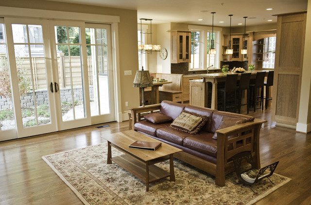 incredibly green home of chevy chase craftsman-living-room