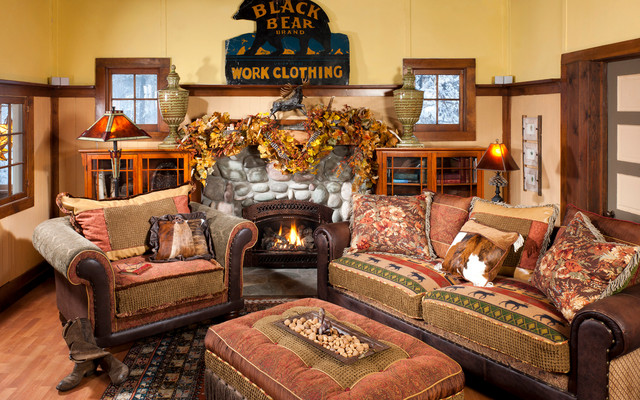 Indeed Decor Interiors rustic-living-room