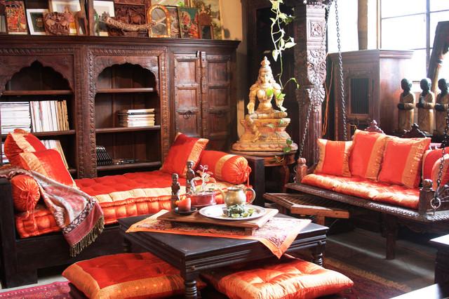 Indian Living Room - Mediterranean - Living Room - los ...