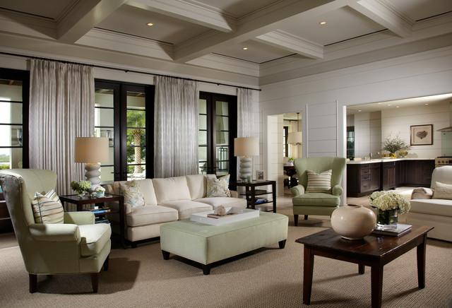 Indian river retreat traditional living room tampa for Traditional indian living room designs