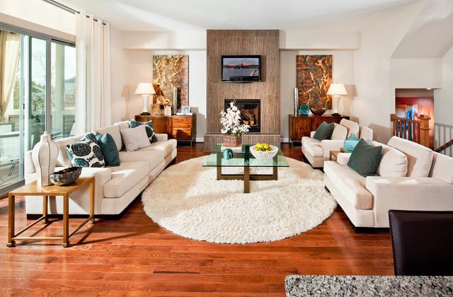 Indigo contemporary-living-room