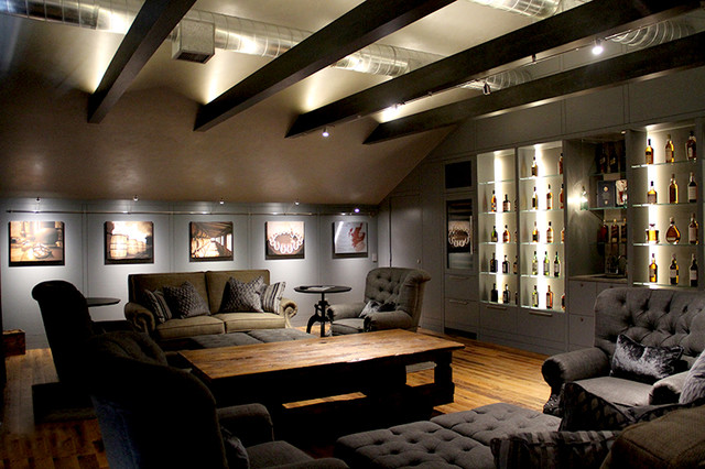 Indirect LED up lighting - Craftsman - Living Room - Houston - by Light