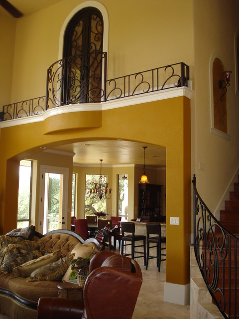 Indoor Balcony Railing Traditional Living Room Other