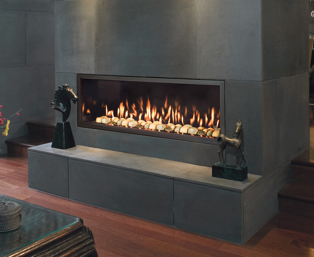 Indoor Fireplaces Contemporary Living Room Grand Rapids By Belden Brick And Supply
