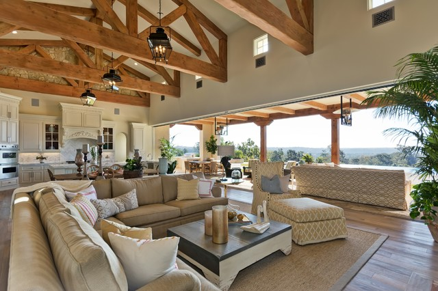Indoor outdoor living room in rancho santa fe living Indoor outdoor interior design