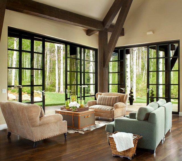 indoor outdoor living - contemporary - living room - denver -