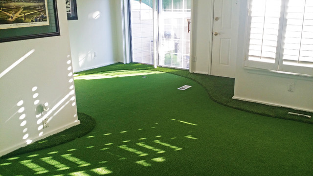 Indoor Putting Greens - Contemporary - Living Room - Denver - by ...