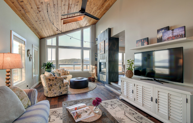 Industrial Coastal Home Beach Style Living Room