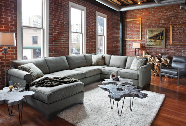 Sarah 3 Pc. Sectional Group - Industrial - Living Room ...